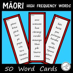 ♦ 500 words on 50 cards words on each card). ♦ Each card is listed with a number. ♦ Words are written in order of frequency. The font used is 'NZ Basic Script'. There are 2 cards on each size page. School Resources, Classroom Resources, Teaching Resources, Waitangi Day, Maori Words, Sight Words List, Teachers Aide, High Frequency Words, Spelling Words