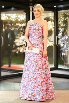 Dianna Agron wearing an Osman dress at Asmallworld 10th Anniversary Gala, Gstaad Switzerland