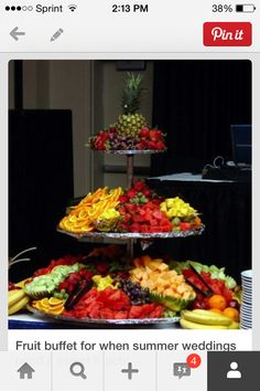 Fruit bar wedding buffet dessert tables 35 new Ideas Catering Buffet, Fruit Buffet, Party Buffet, Food Buffet, Fruit Trays, Wedding Reception Food, Wedding Buffets, Wedding Foods, Wedding Catering