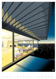 Stahl House--Case Study House # 22 conçue par Pierre Koenig à Los Angeles-Richard Zielenkiewicz