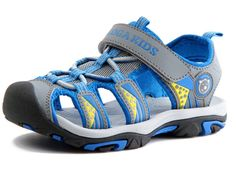 DADAWEN Boy's Girl's Outdoor Athletic Sandal (Toddler/Little Kid/Big Kid) Blue US Size 13.5 M Little Kid. 360 degree comfortable breathe freely upper, Convenient velcro. Secure fit lace capture system with hook and loop adjustability over instep. Metatomical molded EVA foot bed. Hydrophobic textile lining ,Not smelly feet. New Arrival!!!Special Sales!!Only 10 days, The lowest price $19.99.After,Prices will continue to rise, until the original price, until the original price.
