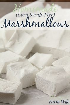 These homemade marshmallows not only don't have corn syrup in them - they're made with evaporated cane juice! So yummy - so easy to make!