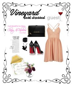 """Vineyard Best Dressed♥️"" by ordinary-fashion on Polyvore featuring moda, LSA International, Christian Louboutin, Saachi, Michael Kors, napa, winerywedding, bestdressedguest ve vineyardwedding"