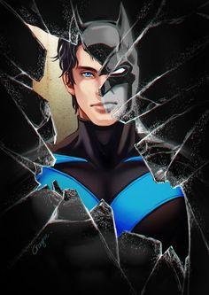 Nightwing - Dick Grayson as Batman Batman Robin, Batman Vs, Spiderman, Gotham Batman, Dick Grayson Batman, Batman Games, Ms Marvel, Marvel Dc Comics, Captain Marvel