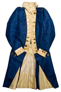 Diplomatic uniform coat, 1790s.  This blue silk coat belonged to Charles Cotesworth Pinckney (1746-1825), South Carolina lawyer, statesman...
