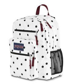 JanSport Big Student Backpack TDN7 (White / Black Gracie Dot) JanSport http://www.amazon.com/dp/B00E4YZXQ4/ref=cm_sw_r_pi_dp_tQ.4tb03R1R2Y   Freshmen year for me!!!!