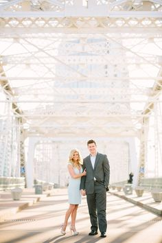 Engagement photos in downtown Nashville Tennessee. Classy, dressy, modern, sleek, suit, Ralph Lauren, Tony Bowls, city, Nashville, Tennessee, Bride, Groom, photoshoot.