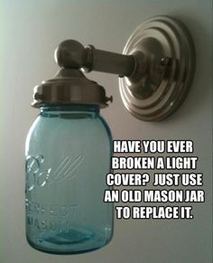 mason jar light cover