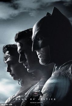 Dawn of Justice. Wonder Woman, Superman, Batman: Gal Gadot, Henry Cavill, Ben Affleck