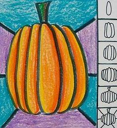 This was a fun and easy lesson I did with my 1st grade class. I think that oil pastels are my new favorite material. I love the way they blend and mix together. I allowed the students to make their own types of backgrounds.    Hint: WORK LIGHT TO DARK! I used yellow/orange pastel first and traced the inside left sides of the ovals on the left. Then I traced the inside right of the ovals on the right. Then I colored all the ovals orange. Final