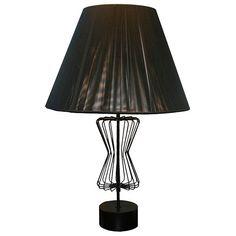 Tony Paul; Enameled Metal Table Lamp, c1950.