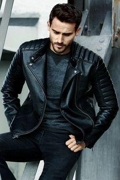 veste en cuir noir homme, tendances de la mode homme, blouson cuir homme redskins
