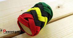 3 color interweave knot tutorial. Paracord Weaves, Paracord Knots, Paracord Bracelets, Paracord Projects, Globe, Weaving, Wraps, Handle, Tie