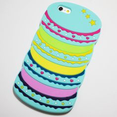 Blue Macaron Stack iPhone 6 Plus / 6S Plus Soft Case