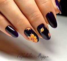 Fall Nail Designs Nails Pinterest Autumn Nails Makeup And