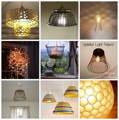 Lots of DIY lighting ideas! You can create unique light fixtures with items you find at Safari Thrift in Aurora CO.