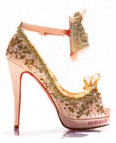 Christian Louboutin's shoes a la Marie Antoinette!