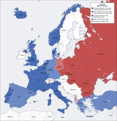Cold war europe military alliances map en - Cold War - Wikipedia, the free encyclopedia