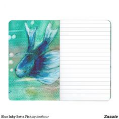 Blue Inky Betta Fish Journal