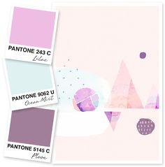 Lilac, Plum and Soft Mint Color Palette