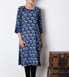 Indigo Dyed Cotton Kurta