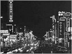 Central Avenue, Albuquerque has long served as the city's main street, circa 1950s, copyright Kent - Take a tour of the old historic Route 66 highway.