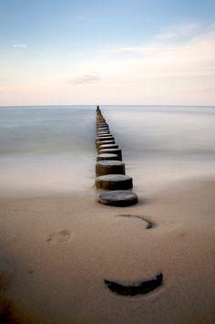 Pilings, Coast of Ückeritz, The Baltic Sea