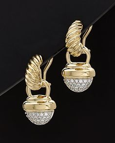 David Yurman 18K 0.35 ct. tw. Diamond Drop Earrings