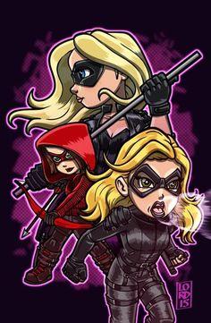 "Lord mesa-art ""Ladies Of the League"" ~ Laurel, Sara and Thea Arrow"