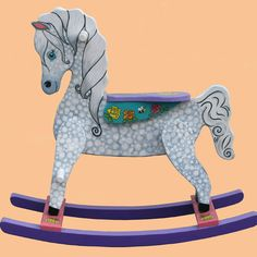 Handcrafted Wooden Rocking Horse DAPPLE from PoshTots