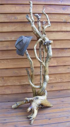 driftwood hat stand   Custom Log Furniture