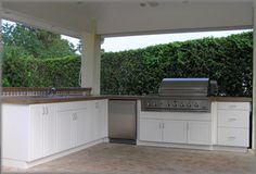 Outdoor Kitchen Grill Base Installed
