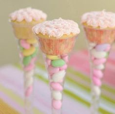 Fun way to display and serve cupcakes for a party.