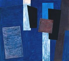 Adrian Heath Composition, Blue, Black and Brown 1952