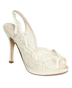 Caparros Shoes, Astrid Evening Pumps - Shoes - Macy's. $55.30 Color-Ivory. Very pretty - but heel too high