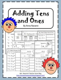 This packet is a 10 page practice set that provides students with beginning practice of adding double digits/tens and ones. Students are encouraged to use ten rods and cubes, along with showing their work through drawings.
