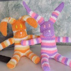 Custom Made SOCK BUNNY for Easter from Sock Monkeys By Cheryl