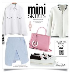"""""""Mini me-2 : cute skirts"""" by monica-dick ❤ liked on Polyvore featuring Emporio Armani, WithChic, Fendi, Joshua's, Vision, Steve J & Yoni P and MINISKIRT"""