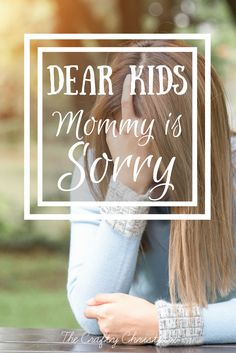 Dear Kids, Mommy is Sorry {Parenting with an Autoimmune Disease} - The Crafty Christian