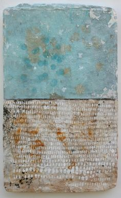 rice & water  mixed media / paper / wood  20 x 12 x 1