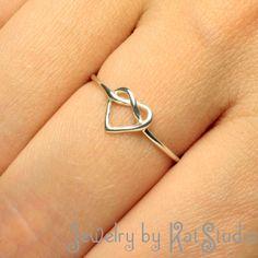 Knot+Heart+Ring++Infinity+Heart++Sterling+Silver+925++by+Katstudio,+$21.00 sweet