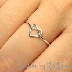 Knot+Heart+Ring++Infinity+Heart++Sterling+Silver+925++by+Katstudio,+$21.00 sweet
