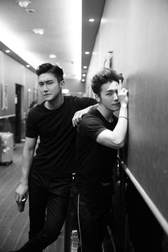 black x slicked-back :: Cho Si Won x Lee Donghae of Super Junior Lee Donghae, Leeteuk, Kim Heechul, Kyuhyun, Choi Siwon, Super Junior T, Super Junior Donghae, Exo Kai, Vixx