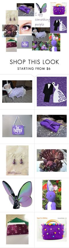 """""""I Spy Something Purple"""" by dianassewingstudio ❤ liked on Polyvore featuring Baccarat and FRU"""