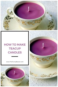 28 Pleasantly Fragrant DIY Christmas Candle Craft Ideas - Pretty Rad Lists The Effective Pictures We Offer You About DIY Candles photo A quality picture can tell you many things. Teacup Candles, Mason Jar Candles, Soy Wax Candles, Candle Centerpieces, Christmas Candles, Christmas Diy, Homemade Scented Candles, Teacup Crafts, Candle Making Business