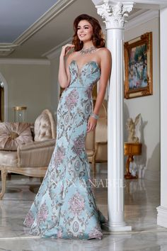Prom Dresses Evening Dresses by style evening dress, full floral pattern, strapless sweetheart bodice and back zipper. Chiffon Evening Dresses, Evening Gowns, Prom Dresses, Evening Party, Formal Gowns, Dress Formal, Formal Prom, Formal Wear, Nice Long Dresses