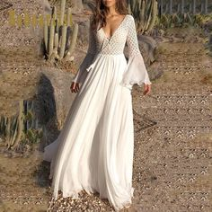 Promo Offer Bohoartist Women Sexy Dress Long Flare Sleeve V Neck White Tassel Hollow Boho Lace Maxi Dress Holiday Chic Autumn Female Dresses Vestido Maxi Floral, Chiffon Maxi Dress, White Maxi Dresses, Lace Dress, Dresses With Sleeves, Dress Long, Dresses Dresses, White Boho Dress, Chic Dress