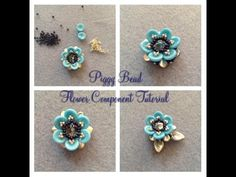 Piggy Bead Flower Bead Tutorial - YouTube