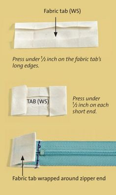 Now More Scratchy Zipper Ends! With this clever sewing tip from Threads #174, your zippers will be feeling better than ever.