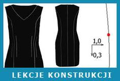 Stopniowanie odzieży. Akt 7 - sukienka z cięciem francuskim